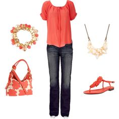 coral created by lislyn.polyvore.com