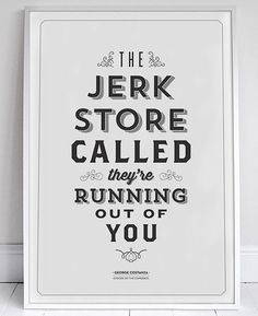 Typographic Seinfeld Posters by Sign-Feld | Inspiration Grid | Design Inspiration