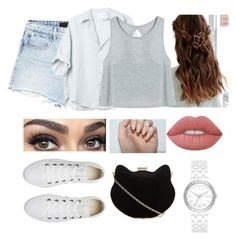 """""""PS."""" by ejayy1215 on Polyvore featuring Alexander Wang, Converse, Urban Outfitters, New Look, DKNY and Lime Crime"""