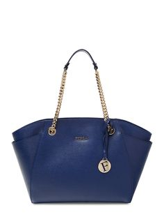 Julia Saffiano Leather Chainlink Tote by Furla at Gilt