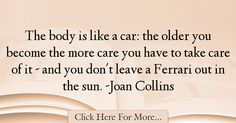Joan Collins Quotes About Car - 8467