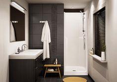 Maax - Biarritz - - Home Depot Canada Shower Wall Panels, Shower Doors, Shower Stalls, Home Renovation, Home Depot, Bathroom Repair, Fiberglass Shower, Shower Units, Bathroom Renos