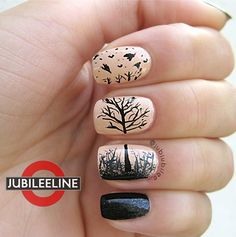 Fall shadow nail art. Okay this is awesome and something I would actually do...if I was capable.