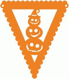 halloween jack-o-lantern pennant by Jennifer Wambach Design ID #99137 Published: 10/12/2015 Regular cut