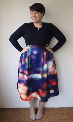 902d51834b6 Frocks and Frou Frou - remixed Chicwish skirt. I bought the same one last  fall. Curvy Girl FashionModest ...