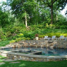 117 best hillside pool images swimming pools swiming for Pool design hillside