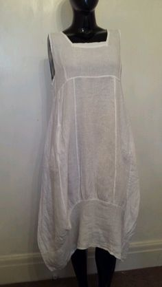 LAGENLOOK OFFER LINEN PLUS SIZE QUIRKY SHAPED BOHO DRESS 48