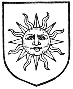 Fig. 550.—Sun in splendour. Date 	1909 Source 	A Complete Guide to Heraldry. Author 	 [show]Arthur Charles Fox-Davies oktouse