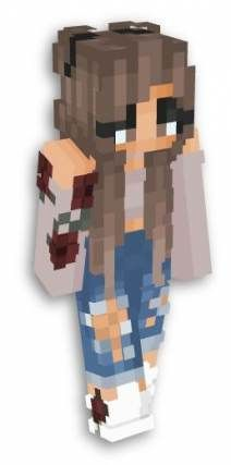 Wear healt ♥ - Minecraft World Minecraft Character Skins, Minecraft Mädchen Skins, Minecraft Skins Female, Minecraft Skins Aesthetic, Minecraft Characters, Minecraft Games, Cool Minecraft Houses, Minecraft Designs, How To Play Minecraft