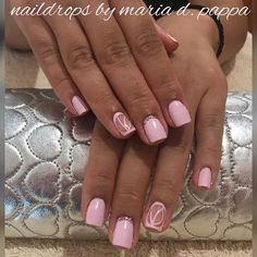 #manicure #crystalpink