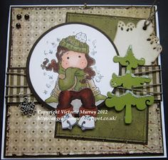 Angeldrummer Cards by Victoria Murray: Winter skating Tilda - Magnolia - Stampand Create Product Spotlight