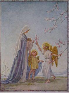 Margaret Tarrant religious pics | The Flower of Dawn by Margaret Tarrant
