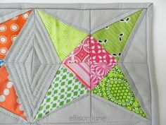 "Kaleidoscope+Block+Paper+Piecing+Pattern tutorial. This is a great pattern for scraps as the block is apprx 6""."