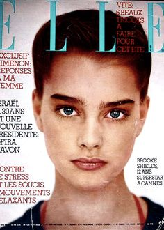 Brooke Shields covers French Elle, May 22, 1978.
