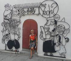 Graffiti on the walls in George Town, Penang, Malaysia