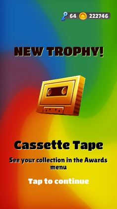 Cassette Tape unlocked in Subway Surfers Subway Surfers, Cassette Tape, Movie Posters, Movies, Games, Film Poster, Films, Movie, Gaming