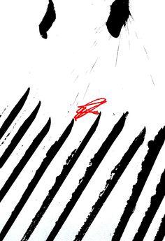 Laurent Koller ink on paper n°137 41X27 cm