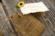 Seed packets tied with ribbon and sunflower. See more seed packet ...