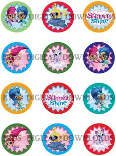 Shimmer and Shine Cupcake toppers  Shimmer by KidsDigitalDownloads