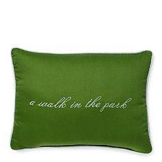 gardner street ''a walk in the park'' idiom pillow