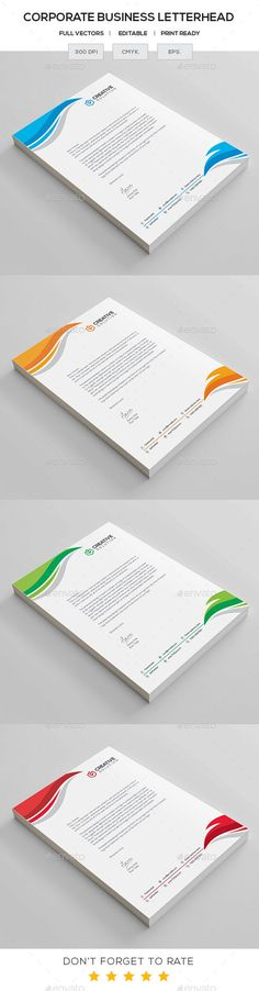 Business Letterhead Stationery printing, Letterhead and Print - business letterhead
