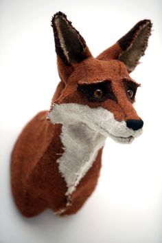 Beautiful handmade fox bust from this is gnu.