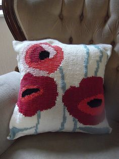 Ravelry: Poppy Pillow pattern by Denny Gould