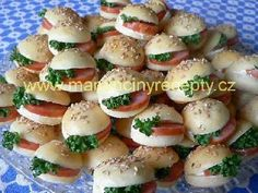 Czech Recipes, Ethnic Recipes, Party Treats, Caprese Salad, Finger Foods, Food Art, Potato Salad, Catering, Food And Drink