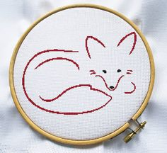 Counted cross stitch pattern, Instant Download, Free shipping, Cross-Stitch PDF, Cute fox