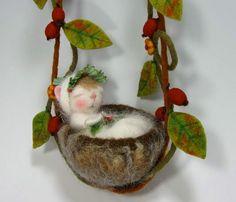 PDF aguja Felted Animal vestido ratón/conejito aguja por barby303, $45.00