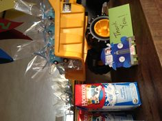 Little Blue Truck Party Favors: Milk and Cookies A better choice than the usual candy to send out for Thank You's