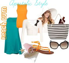 """""""Beach Bum Apostolic Style!"""" by emmyholloway ❤ liked on Polyvore...not the shoes"""