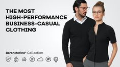 BaronMerino: High-performance business-casual clothing. by Markus Hörtnagl — Kickstarter Most High, High Five, Business Casual, Casual Outfits, Company Logo, Stylish, Clothing, Collection, Give Me 5