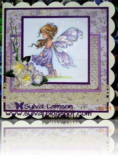 "Card was made with image from Wee Stamps, ""Silver Fairy"""