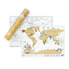 The Scratch Map® Travel map is the ultimate way to record your travels and adventures on the move.