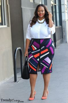 Working Girl Outfit details on TrendyCurvy.com... | Trendy Curvy | Plus Size Fashion & Style Blog