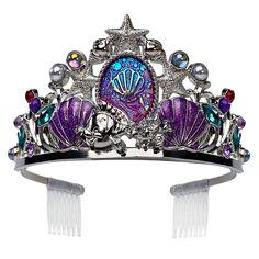 Ariel Tiara for Kids – The Little Mermaid Ariel Costumes, Mermaid Crown, Mermaid Art, Princess Tiara, Disney Princess, Metal Headbands, Mermaid Tails, Disney Merchandise, Fantasy Jewelry