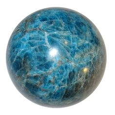 """Apatite Ball 50 Blue Crystal Healing Mineral Rare Large Size Sphere Stone 2.8"""""""