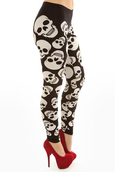 Skull Skull Fashion, Rocker Style, Halloween Skull, Girls Best Friend, Dress Outfits, Lingerie, Leggings, Shorts, Dark Side