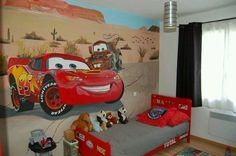 Fresque murale «Cars» www.peintures-by-sarah.com
