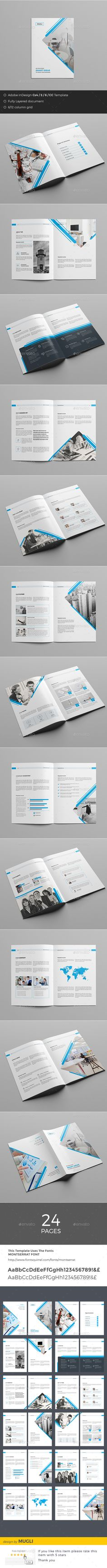 Business Brochure — InDesign Template #minimal #clean • Only available here ➝ https://graphicriver.net/item/business-brochure/17665457?ref=pxcr