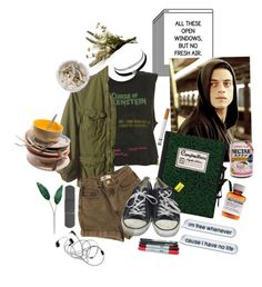 """""""I Haven't Left My Room for Five Days."""" by kimnojams ❤ liked on Polyvore featuring Olympia Le-Tan, G-Star, American Apparel, Converse, Charlotte Russe, Ash, Børn, Laura Cole and Abigail Ahern"""
