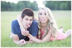 Silly engagement photos are a must! | Photo By Amber Phinisee