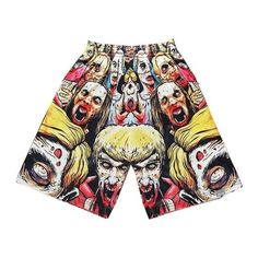 Men's 3d print Zombie mesh breathable casual Hip Hop pants