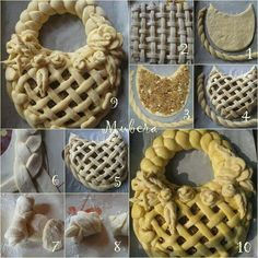 ♡♡ I don't know what country these decorative pastry and bread Pins come from, but they're so beautiful, and from such a simple food. Bread Recipes, Cooking Recipes, Pies Art, Bread Art, Bread Shaping, Berry Tart, Food Decoration, Bread Rolls, Sweet Bread