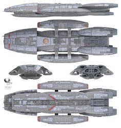 Zoic CGI model of Battlestar Galactica