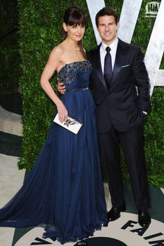 I loved her dress. And Tom Cruise just always looks classy to me.