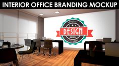 Interior office branding PSD mockup for free download. Download: http://goo.gl/c1BeHs