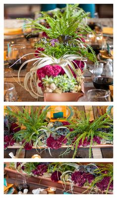 A centerpiece in a gutter? The copper-painted base is a chic and affordable vessel for cockscombs, ferns, succulents and ornamental kale. See how @Marianne Canada created it. (http://blog.hgtv.com/design/2013/11/19/how-to-make-a-holiday-centerpiece-in-a-gutter/?soc=pinterest-blogparty)