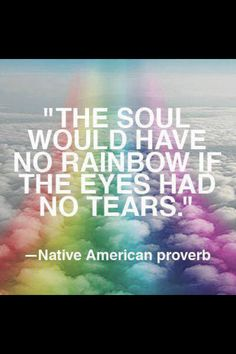 Native American Proverb.